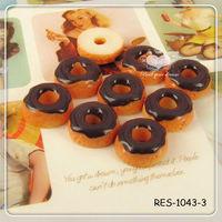 Glazed Donut Necklaces Pendant Miniature Food Necklaces Polymer Clay Food Jewelry Pendant