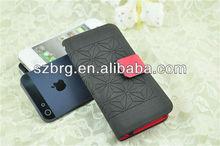 factory price Limonium sinense leather case for iPhone5