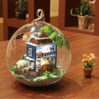 New design sound control craft & DIY glass mini house