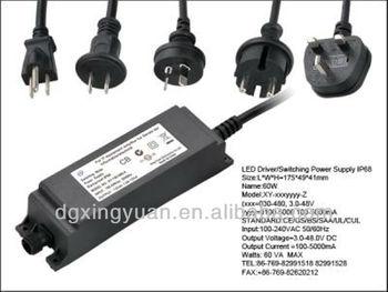 Waterproof LED driver,with UL/CUL FCC marks,3v/6v/9v/12v/24v/30v