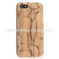 Caliente venta caja de madera para el iPhone 5 de madera cáscara dura