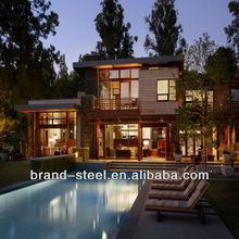 china modern luxury steel prefabricated villas