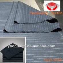 polyest viscose fabric Hot-sale Blue Stripe Men TR Suit Fabric