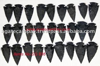 Black Jasper Arrowheads