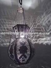 Floral Handmade Brass Pierced Pendant Jug Lamp / Lantern
