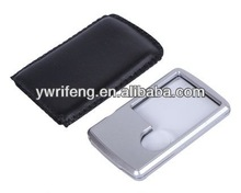 2014 Promotion gifts pocket led magnifier/acrylic lens/magnifier dvd player with usb