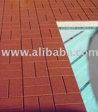 Swimming Pool Surrounding Tile Paver/rubber paver