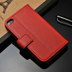 high quality wallet pu leather cases for iphone 4g 4s