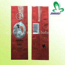 Printing color coffee side gusset plastic bag