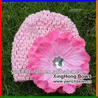Knitting crochet pattern hat cute baby crochet hats caps with large flowerFH-50