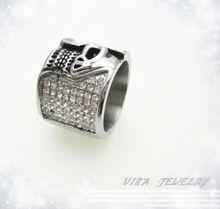 2013 fashion skull rings diamond skull ring for female