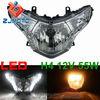 E-Marke E4 Headlight With H4 Bulb 18 white LED Daytime Running Light for Honda CBR250R CBR 250 2008 2009 2010 2011 2012 Headlamp