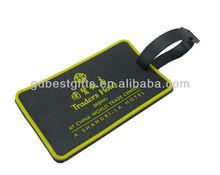 custom logo name brand pvc travel luggage tag for souvenirs