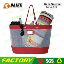 Design Cheap Mesh Vintage Celebrity Tote Shopping Bag DK-AE211
