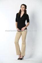 Fashion khaki 4 pocket business uniform cotton pants