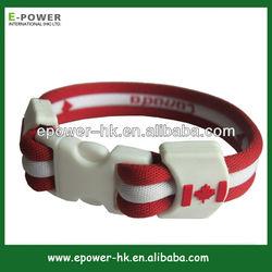 basketball new design silicone wristband nylon