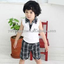 child v-neck polo t-shirt sleeveless with pocket front