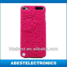 Sculpture Design Rose Flower pc Hard Case Cover For tpuch 5 2013 hot