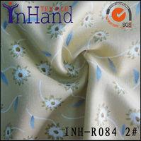 100% twill spun rayon dandelion viscose prints fabric