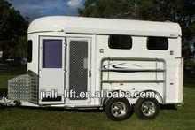 2 horse slant load bumper pull trailer
