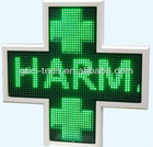 IP66 3D led cross by wireless control/3D High quality LED Pharmacy cross/Slim curved shape frame