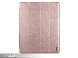 USAMS Champagne Forever Young Series For ipad 4 Leather Case