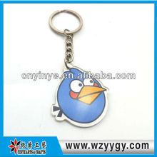 2013 Fashionable custom birds metal keychain