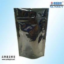black printing aluminum foil zip lock bag