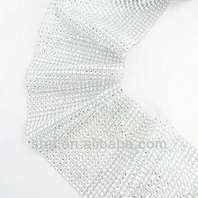 wholesale latest table diamond ribbon wedding decoration manufacturer