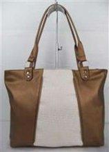 gold Medium sized PU elegant with nylon inside Woman Shoulder Hand Bag