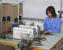 triple head hair weft sewing machine, industrial hair sewing machine, hair weave making machine