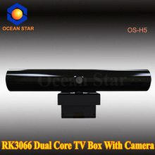 RK3066 dual core 4g Nand Flash 1g Memory android 4.2 with camera smart tv box