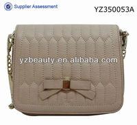 Guangzhou handmade bowknot beige smart wallet