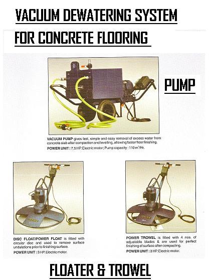 Vacuum Dewatering System For Flooring