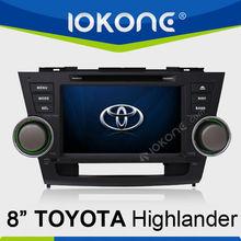 Factory OEM In dash car multimedia gps navigation Touch screen Toyota Highlander