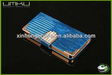 mobile phone jewelry diamond leather case