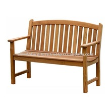 Teak Patio Furniture - Bow Back Bench 120 Cm