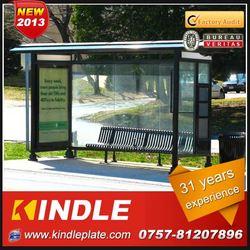 outdoor galvanized metal public modern prefab solar tempered shower glass advertising billboard