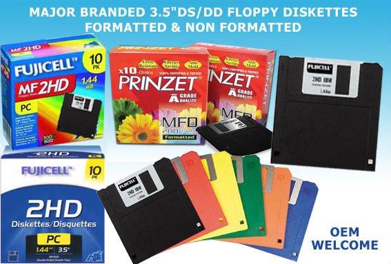 """3.5"""" DS/DD Floppy Diskettes"""