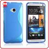 Wholesale Popular Slim S-line Design Flexible Silicone TPU Case for HTC M7