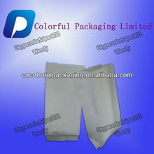 Customized 250g 500g white kraft paper pouch with side gusset coffee tea bags Customized Resealable Bag