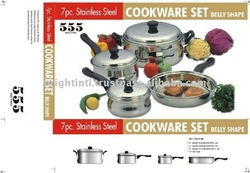 100% Stainless Steel Cookware set