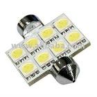 36mm Festoon WHITE 8-LED MAP/DOME/TRUNK LIGHT