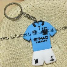 custom promotion football/basketball team shirts keychain silicone for key/fans