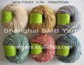 Laine/coton mélangé teint fils à tricoter pull