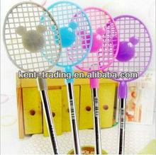 fancy hot sell plastic ballpoint pen badminton racket ball pen school promotional pen