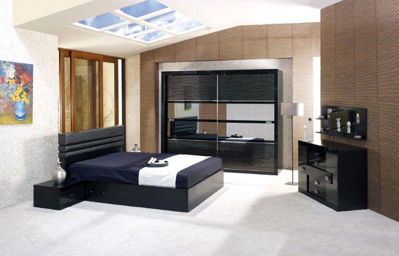 Ruya ensemble de chambre coucher moderne lots de literie for Chambre a coucher bois moderne