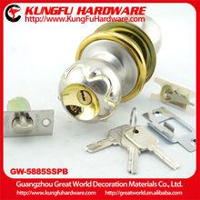GW5885SSPB High Quality Zinc Alloy Ball Door Lock door lock with handle