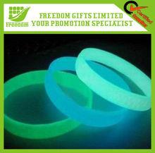 Glow In Dark Silicone Wristband Multi-Color Rubber Bands