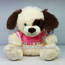 plush dog with t-shirt / big eye animal dog plush toys